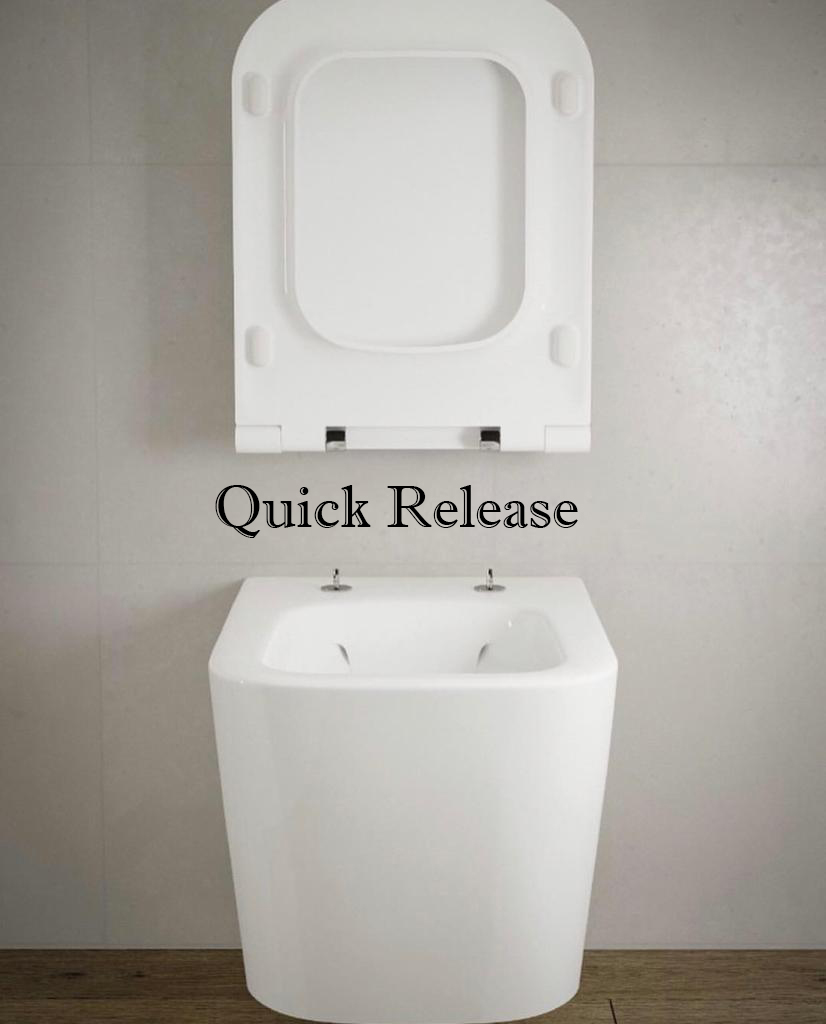 Quick release seat & cover-Toilet