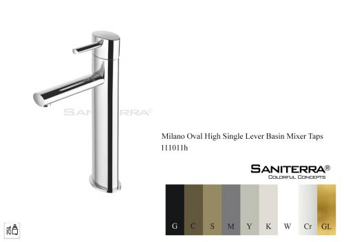 111011h-high washbasin mixer oval