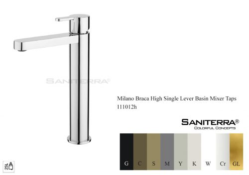 111012h-High Single Lever Mixer taps Braca
