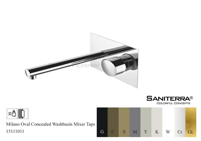 15111011-concealed washbasin mixer milano oval