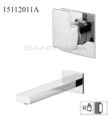15112011A-concealed washbasin mixer Plan