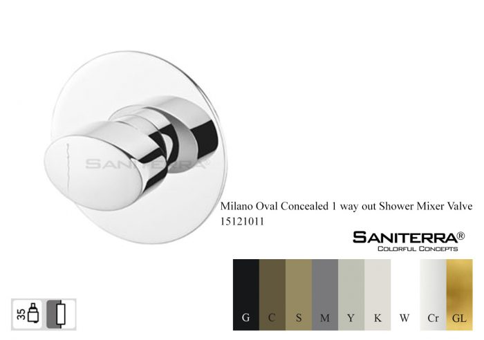 15121011-concealed 1way shower mixer oval