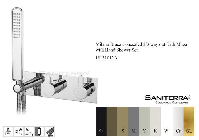 15131012A-concealed bath mixer 2-3 way Braca