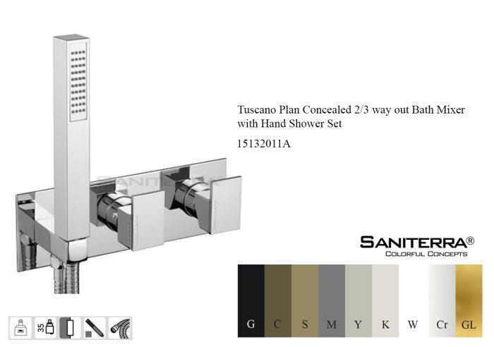 15132011A-concealed bath mixer 2-3 way tuscano Plan