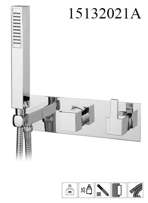 15132021A-concealed bath mixer 2-3 way City