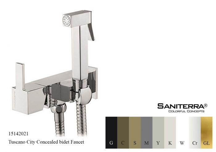 15142021-concealed bidet mixer with shut off City