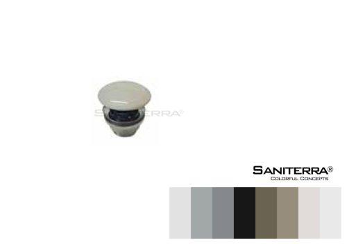 #530011-brass shower waste with ceramic cap