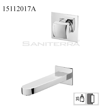 15112017A-concealed washbasin Mixer King