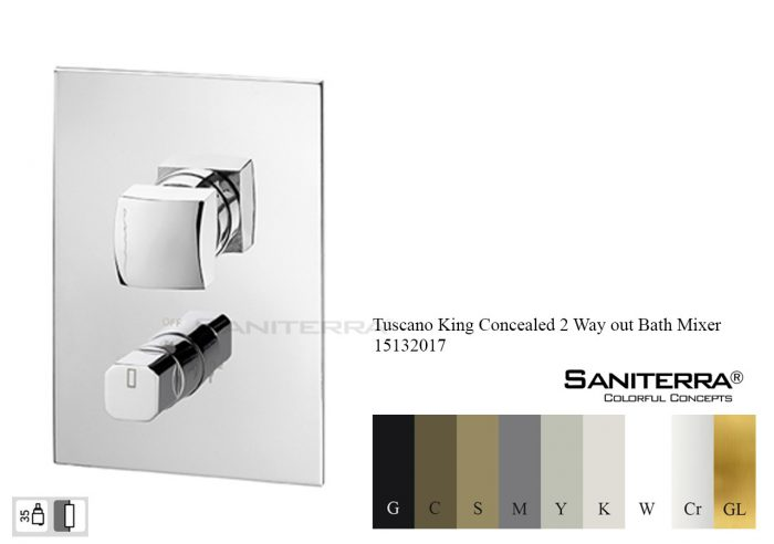 15132017-concealed 2 way Bath Mixer King