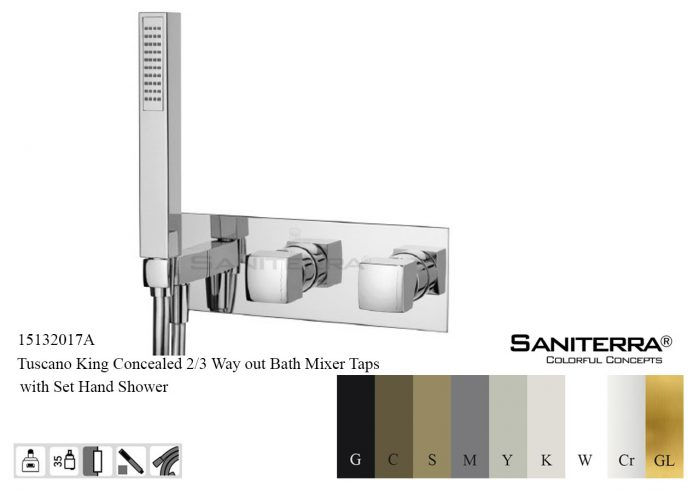 15132017A-concealed 2or 3 way Bath Mixer King
