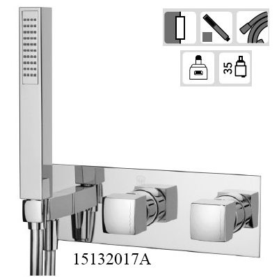 15132017A-concealed Bath Mixer King