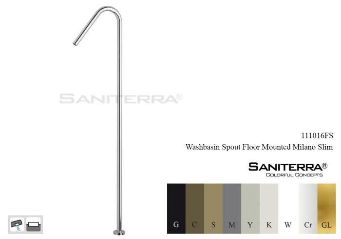111016FS-washbasin spout floor mounted Slim