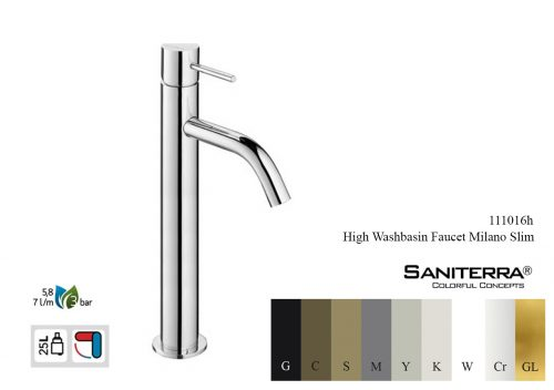 111016h-high washbasin mixer Slim