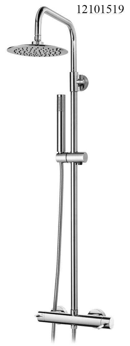 12101519-milano celin Shower Mixer with Telescopic Column