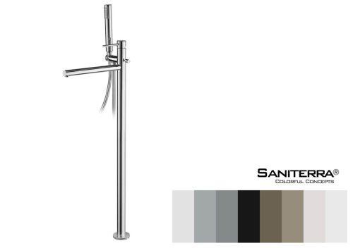 131015FS-floor standing bath mixer taps Celin