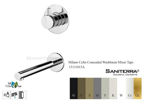 15111015A-concealed washbasin mixer faucet Celin