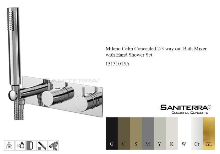 15131015-milano Celin concealed 2-3 way bath mixer taps