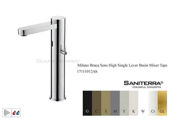 17111012Ah-Electronic Washbasin high mixer Braca sens