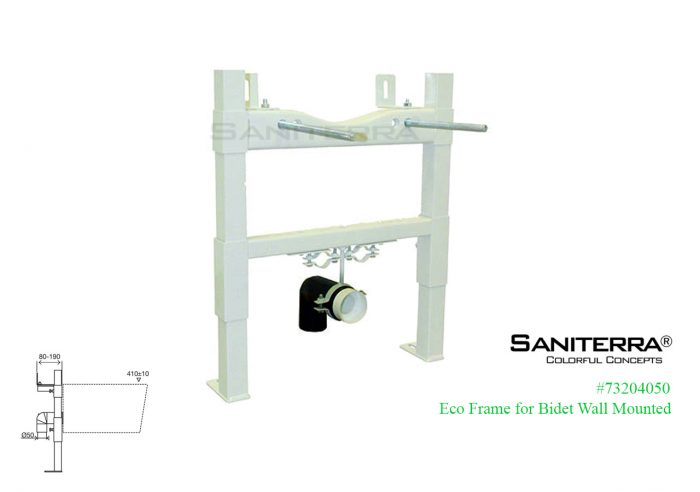 eco frame for wall mount bidet