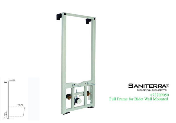 73209050-full frame for wall mount bidet