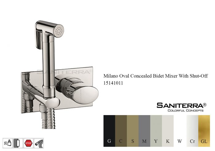 15141011-concealed bidet mixer taps oval