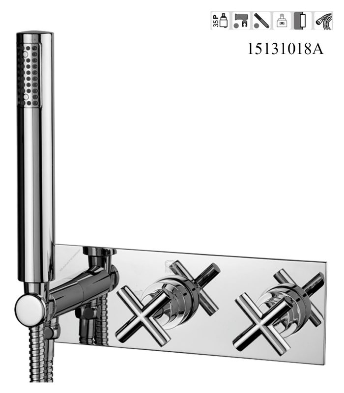 15131018A-Concealed 2,3 way out Bath,shower mixer Classica