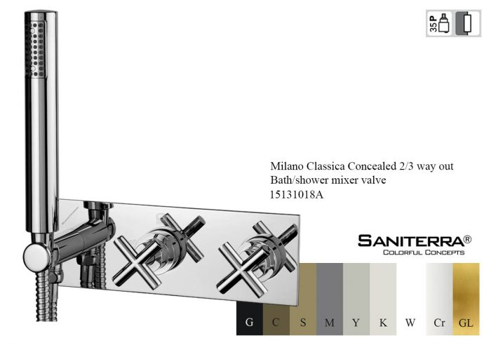 15131018A-Concealed 2,3 way out Bath,shower mixer Milano Classica