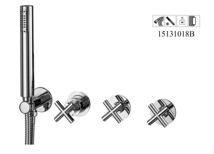15131018B- 4 hole Concealed 2-3 way out Bath-shower mixer Classica