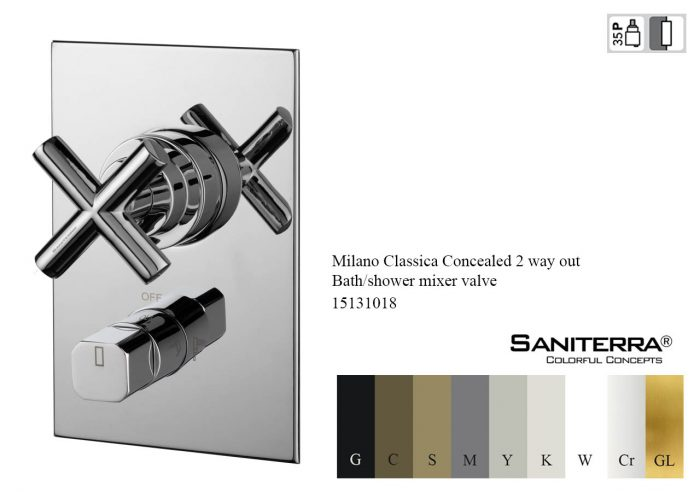 15131018-Concealed 2 way out Bath-shower mixer Milano Classica
