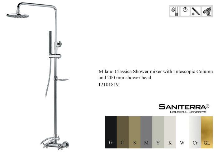 12101819-Shower mixer with Telescopic Column Milano Classica