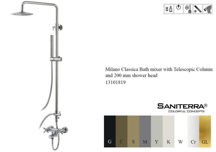 13101819-Bath mixer with Telescopic Column Classica