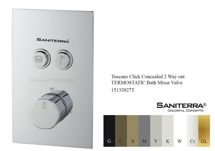 15132027T-Tuscano click concealed 2 way out bath mixer valve