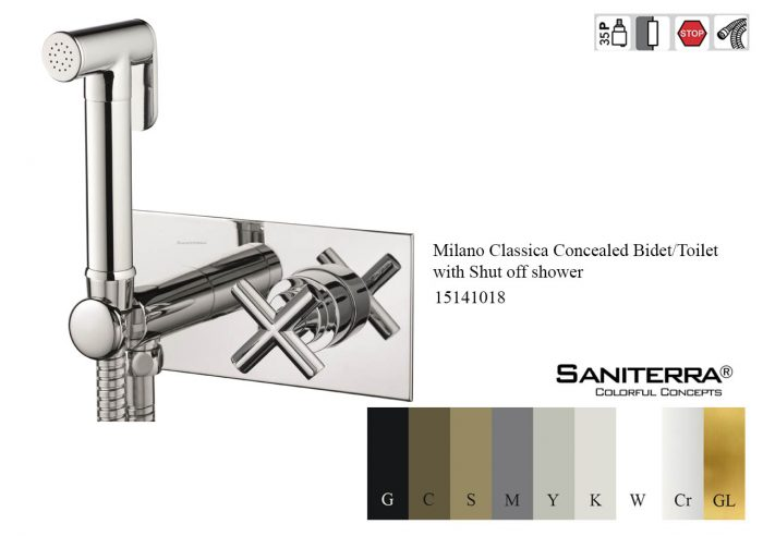 15141018-Concealed Bidet-Toilet with Shut off shower Milano Classica