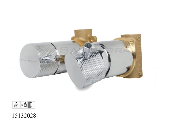 15132028-concealed 2 way out bath mixer taps diamond