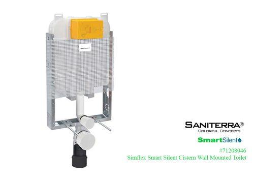 simflex Smart Silent Concealed Cistern WM Toilet-71208046